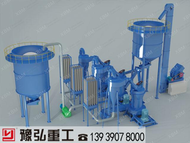 白云石磨粉设备的工作模拟图